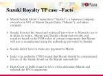suzuki royalty tp case facts