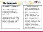 the arguments