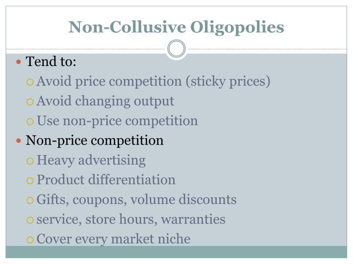 Non-Collusive Oligopolies