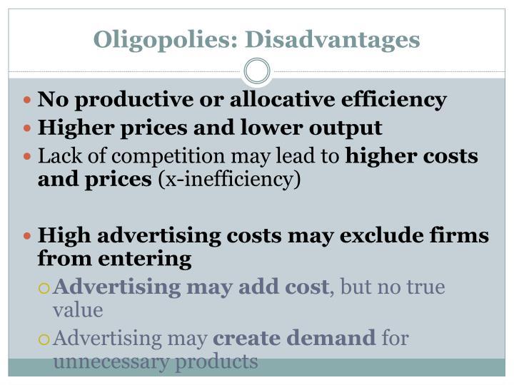 Oligopolies: