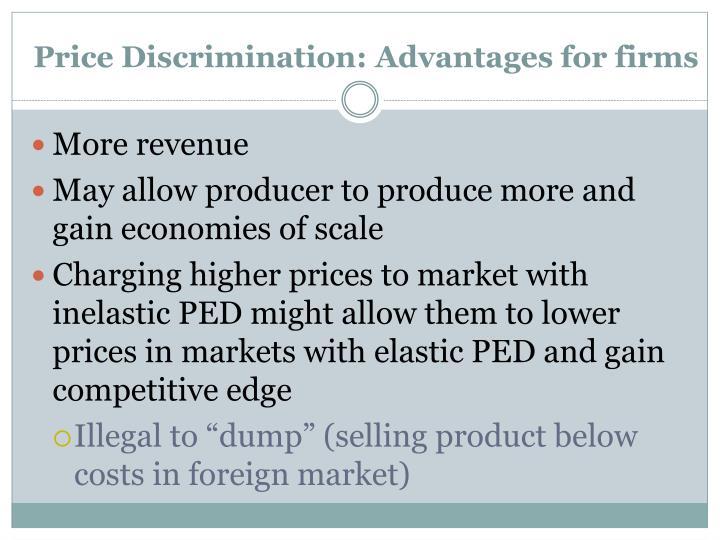 Price Discrimination: Advantages for firms