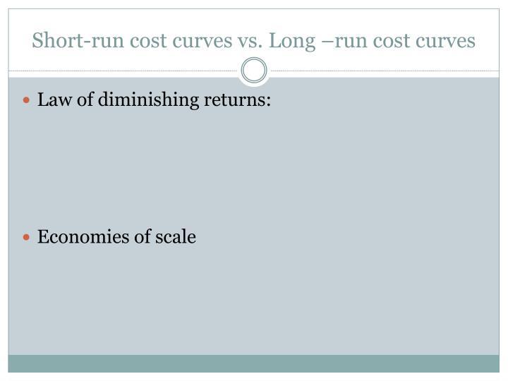 Short-run cost curves vs. Long –run cost curves