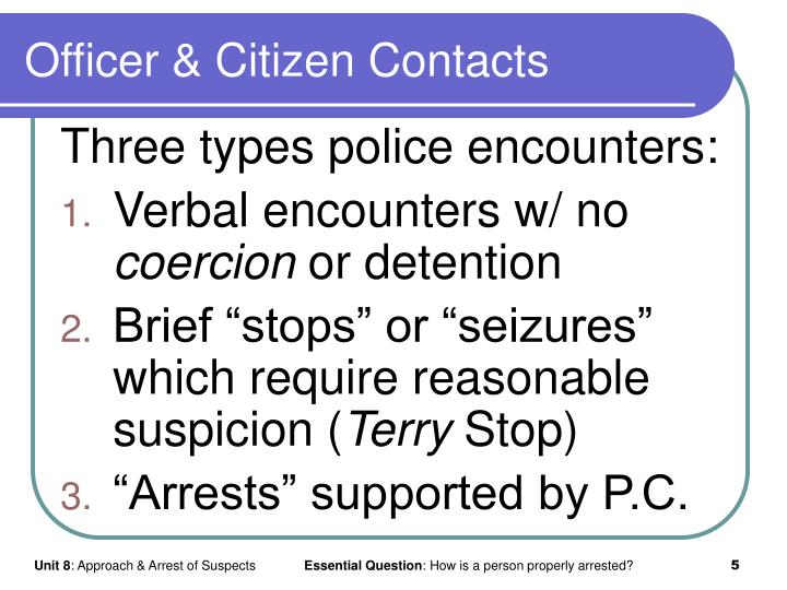 Officer & Citizen Contacts