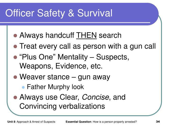 Officer Safety & Survival