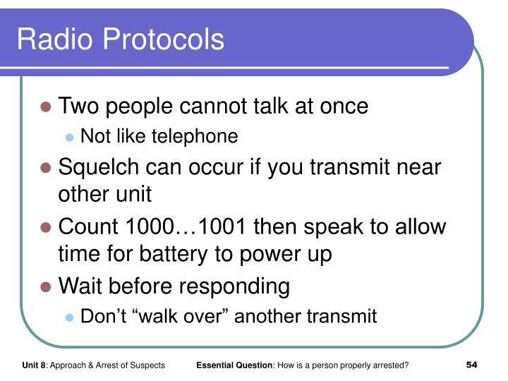 Radio Protocols