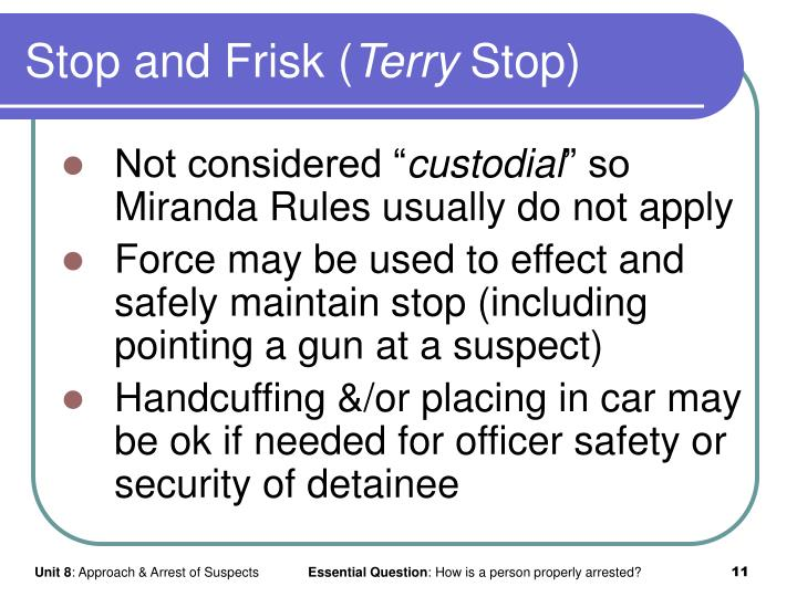 Stop and Frisk (