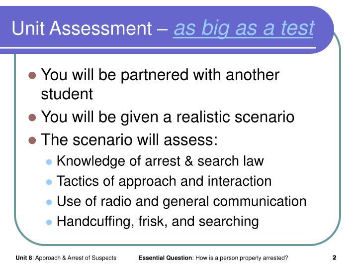 Unit Assessment –