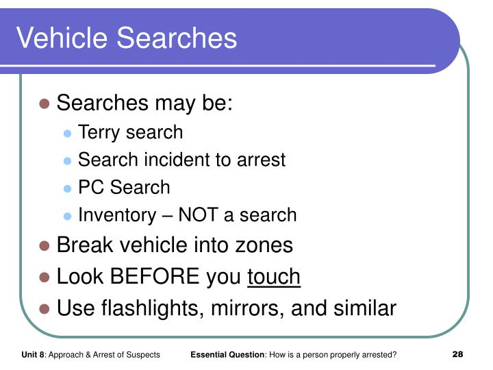 Vehicle Searches