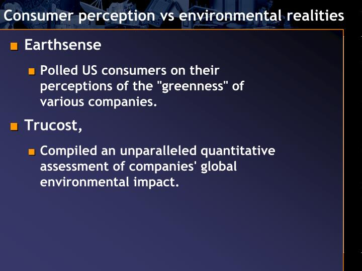 Consumer perception vs