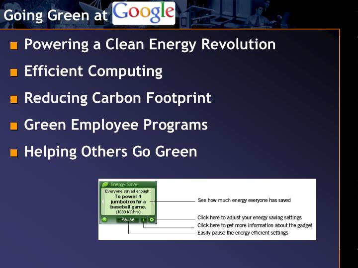 Going Green at