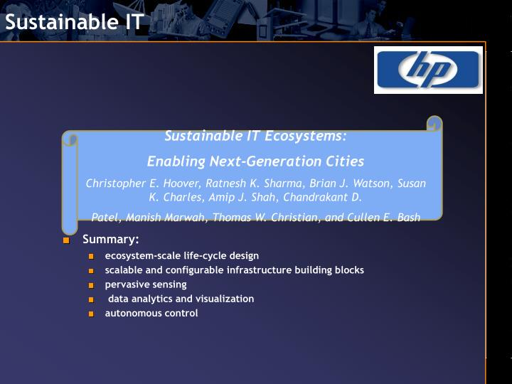 Sustainable IT