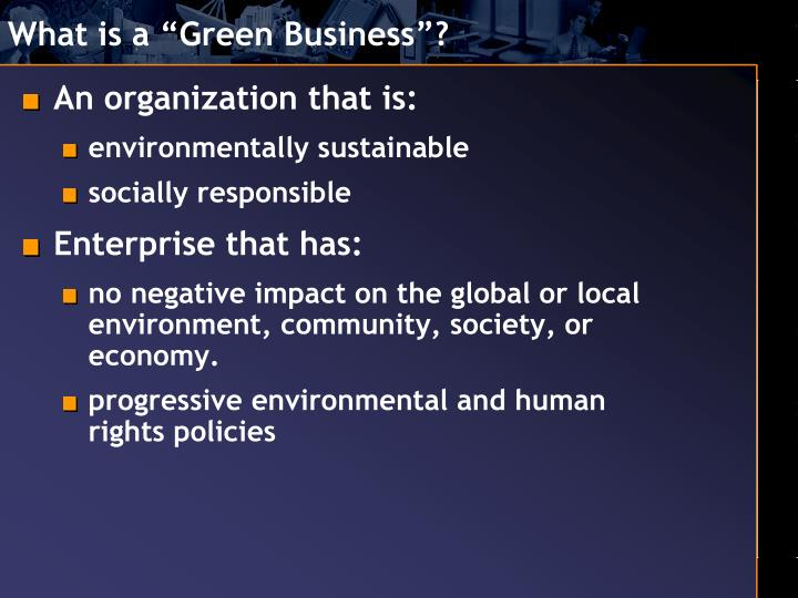 What is a green business