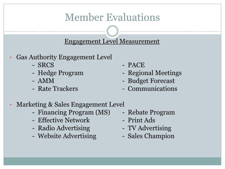 Member Evaluations