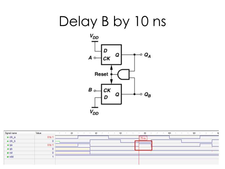 Delay B by 10 ns