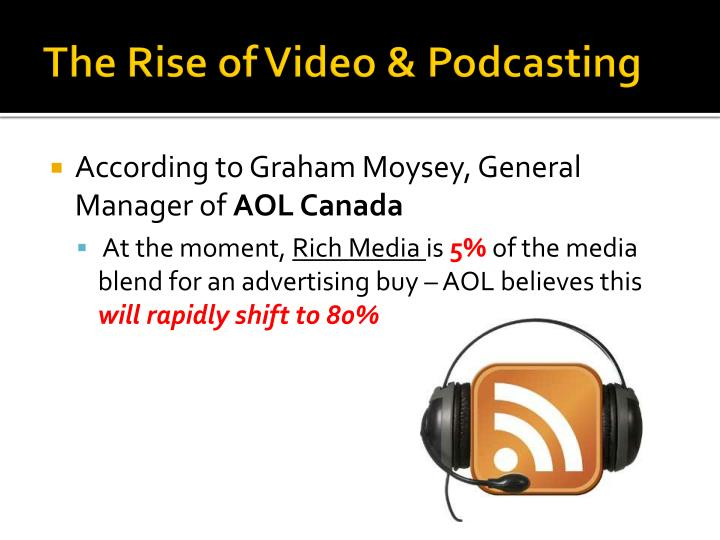 The Rise of Video & Podcasting