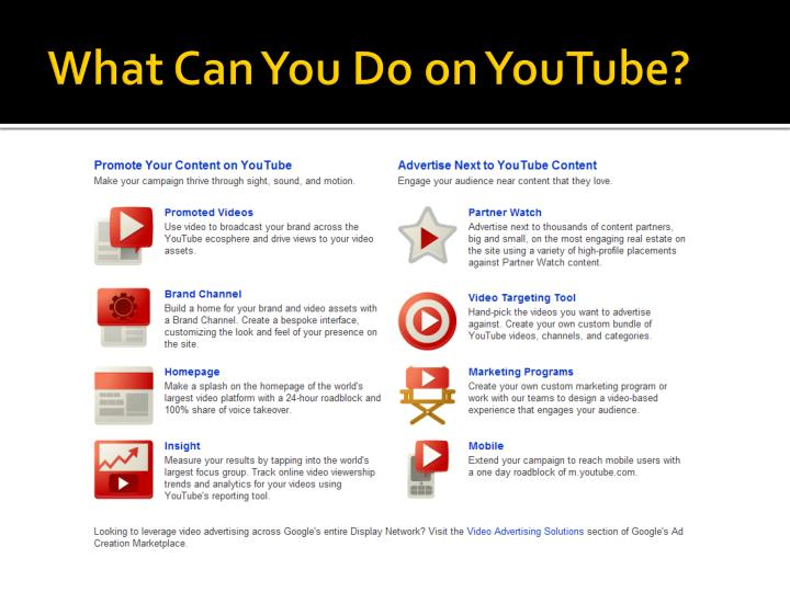 What Can You Do on YouTube?