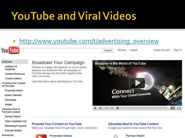 YouTube and Viral Videos
