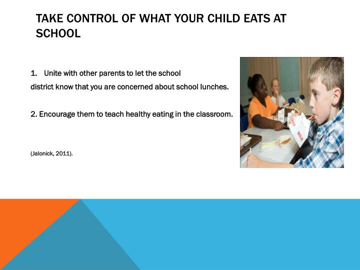 Take control of what your child eats at school
