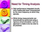 need for timing analysis