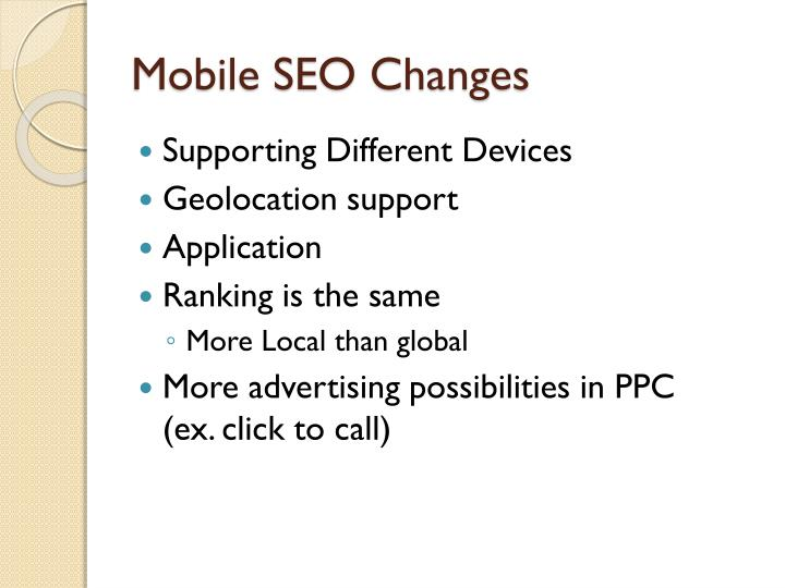 Mobile SEO Changes