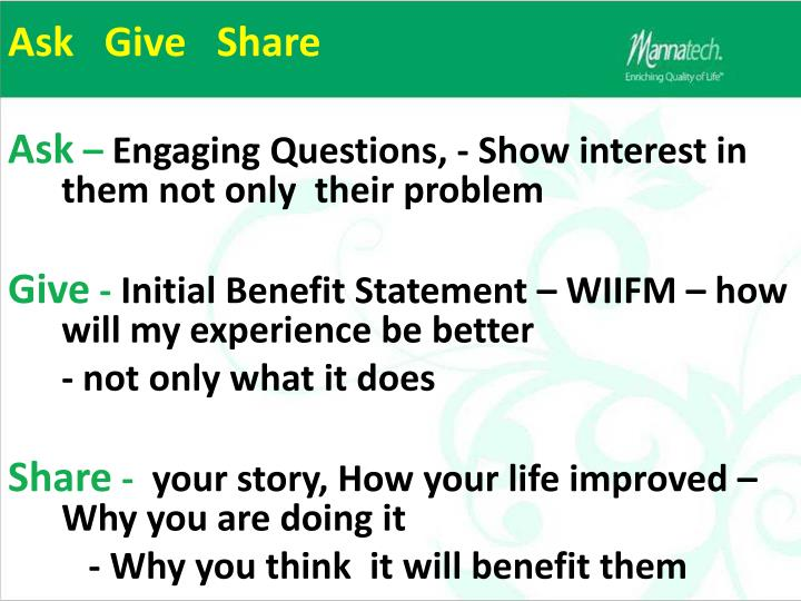 Ask   Give   Share