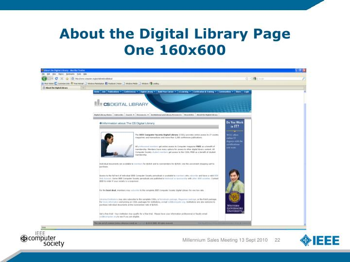 About the Digital Library Page