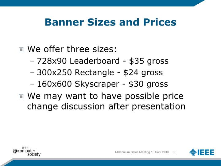Banner Sizes and Prices