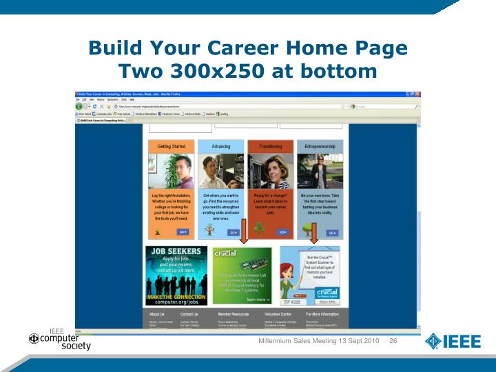 Build Your Career Home Page