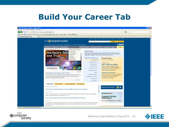 Build Your Career Tab