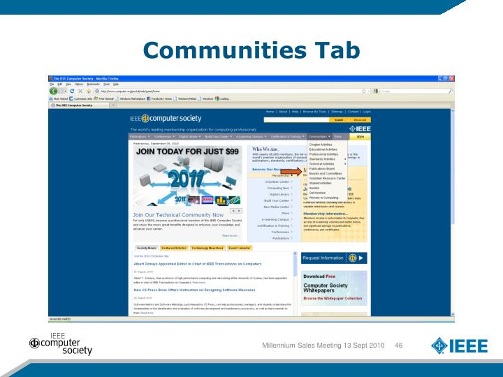 Communities Tab