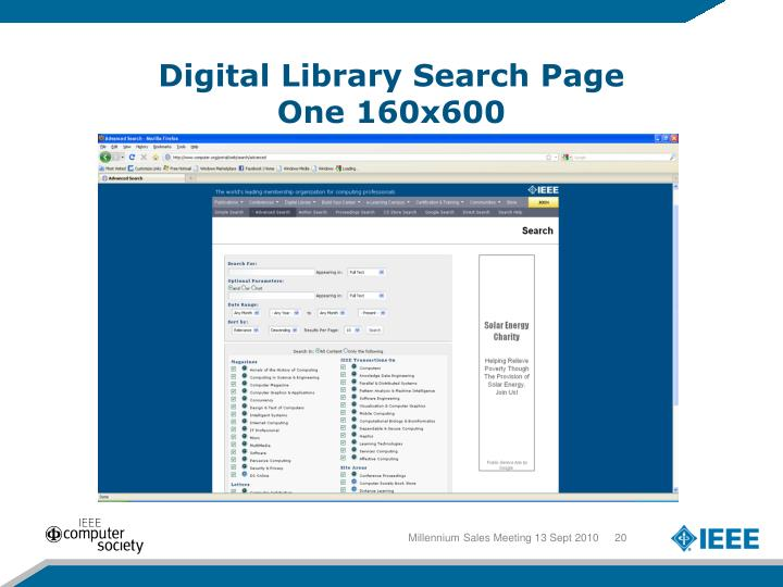 Digital Library Search Page