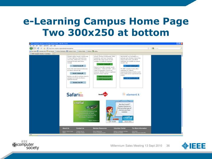 e-Learning Campus Home Page
