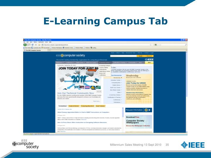 E-Learning Campus Tab