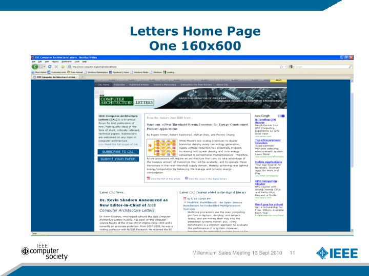 Letters Home Page