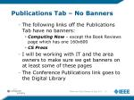 publications tab no banners