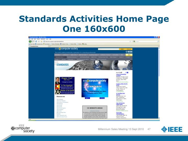 Standards Activities Home Page