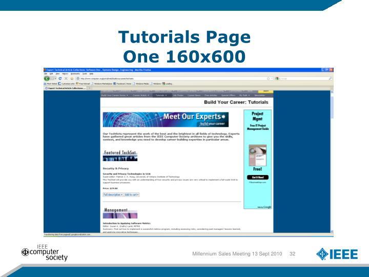 Tutorials Page