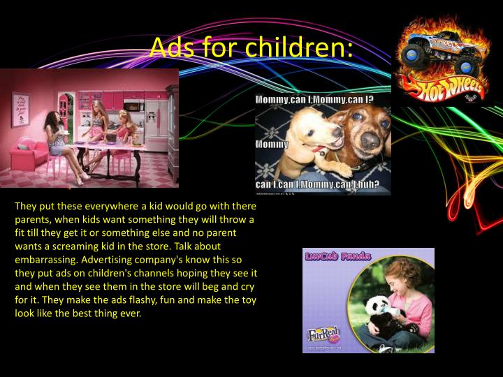 Ads for children: