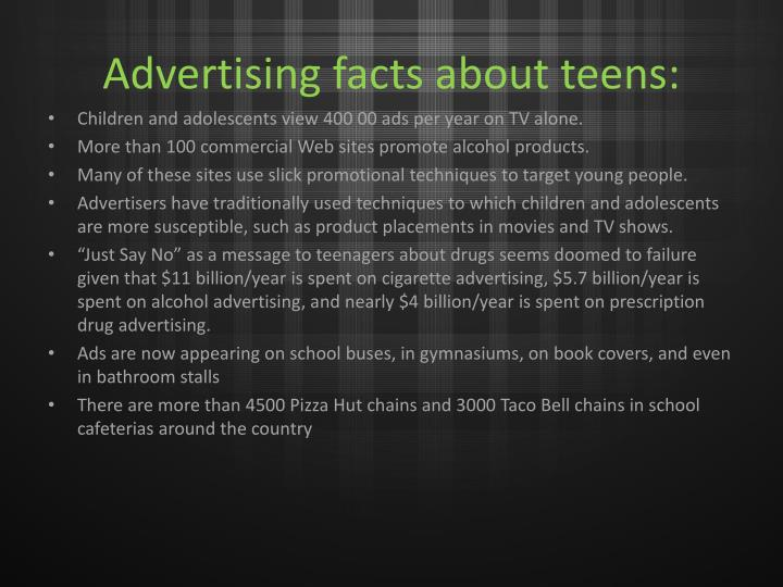 Advertising facts about teens