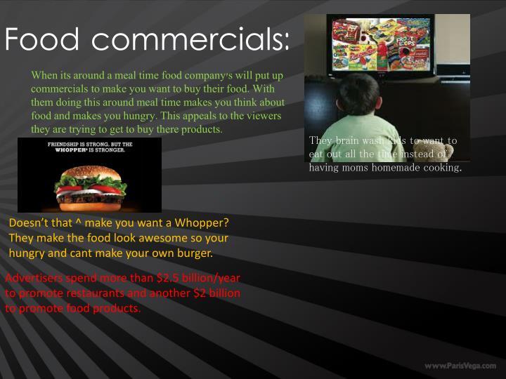 Food commercials: