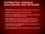 distribution channels wholesalers and retailers