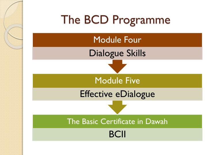 The BCD Programme
