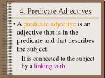 4 predicate adjectives
