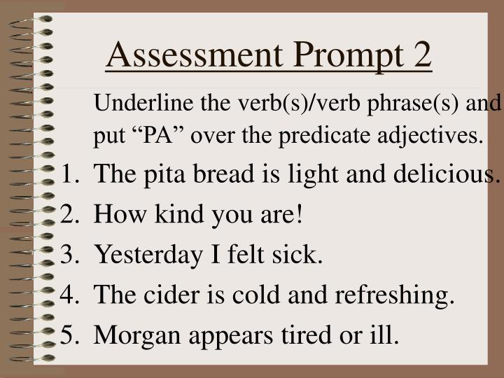 Assessment Prompt 2