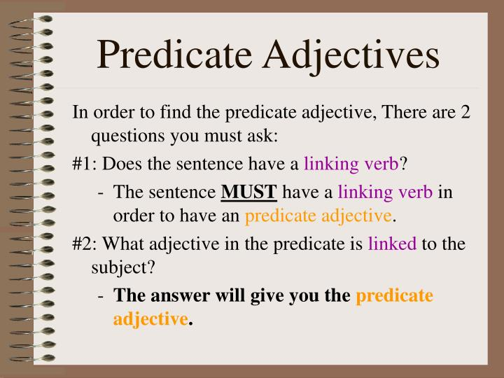 Predicate Adjectives