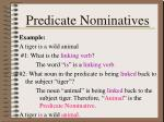 predicate nominatives1