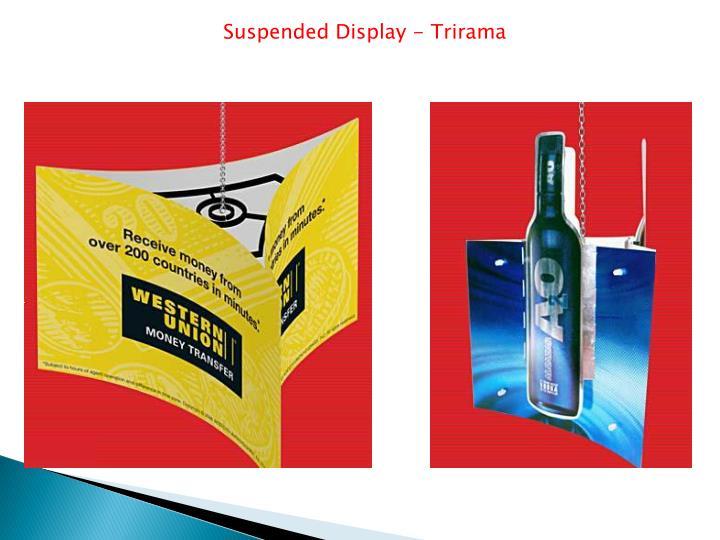 Suspended Display - Trirama