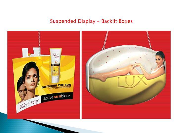 Suspended Display - Backlit Boxes