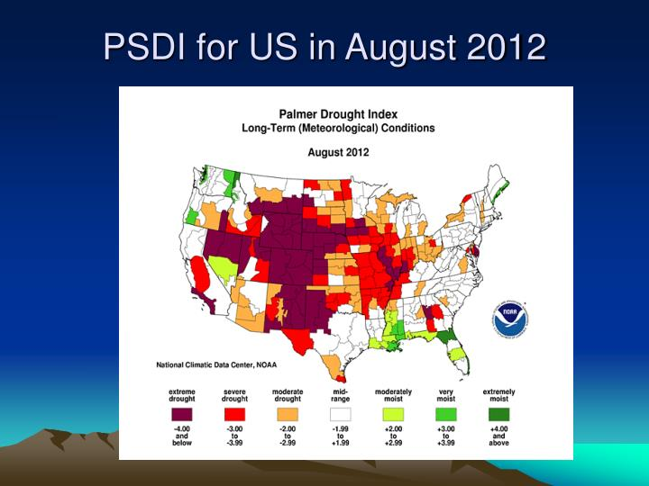 PSDI for US in August 2012