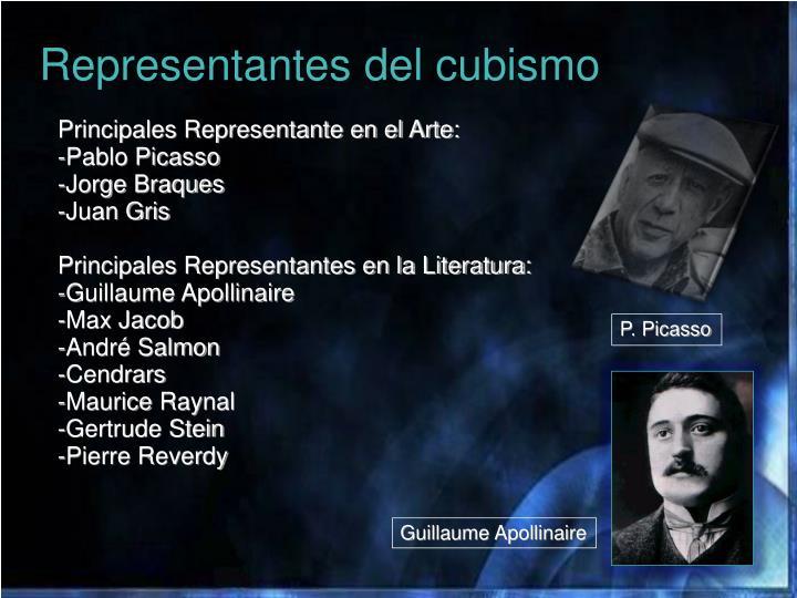 Representantes del cubismo